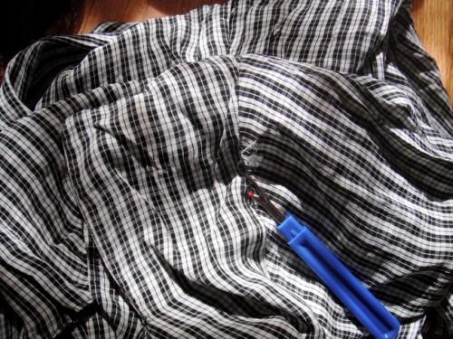 New Dress a Day - DIY - Vintage Dress - Plaid - Seam Ripper - 141