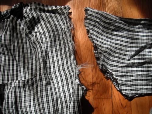 New Dress a Day - DIY - Vintage Dress - Plaid - Sleeve Removal - 141
