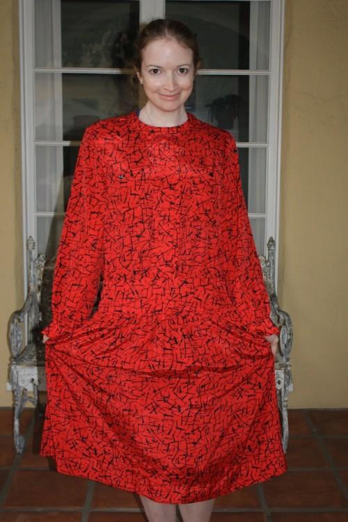 New Dress A Day - DIY - Vintage Dress -Before Shot - 93