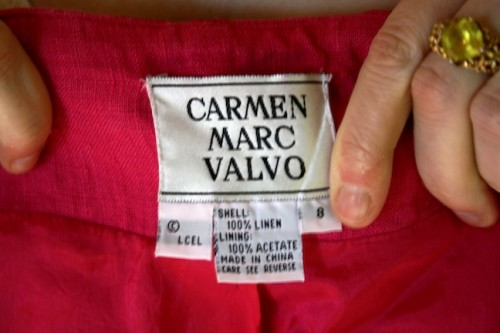 New Dress A Day - DIY - Vintage Dress - Carmen Marc Valvo - 86