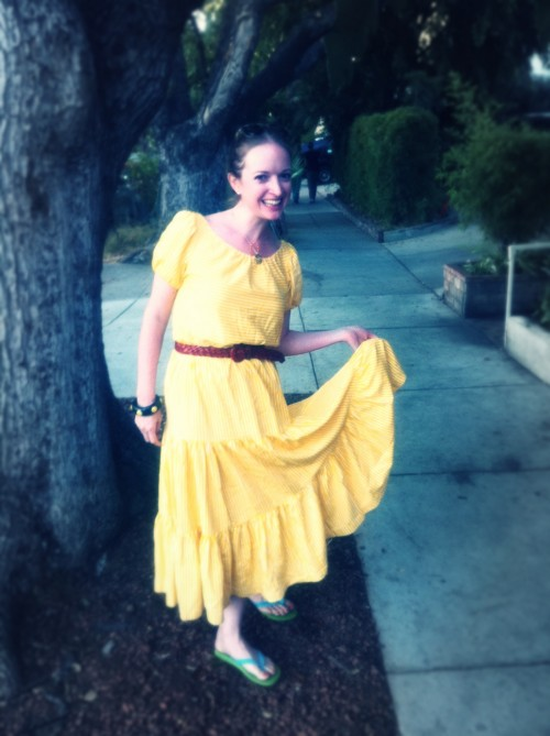 New Dress A Day - DIY - Vintage Dress - Flowy Skirt - 89