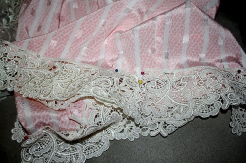 New Dress A Day - DIY - Vintage Dress - New Lace Trim - 96