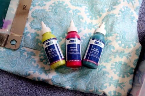 New Dress A Day - DIY - Vintage Dress - Screen Print Paint Options - 110