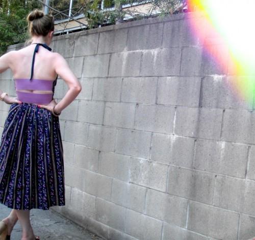New Dress a Day - DIY - Vintage Dress - After Shot - Back - 103