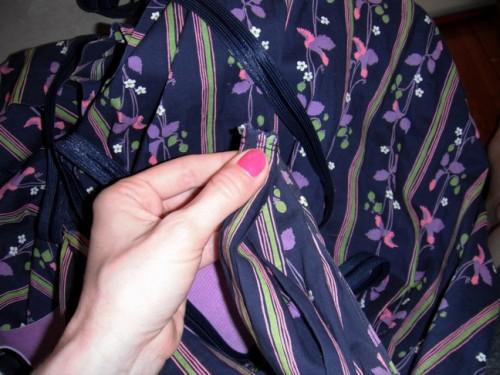 New Dress a Day - DIY - Vintage Dress - Cinched Shoulder - 103