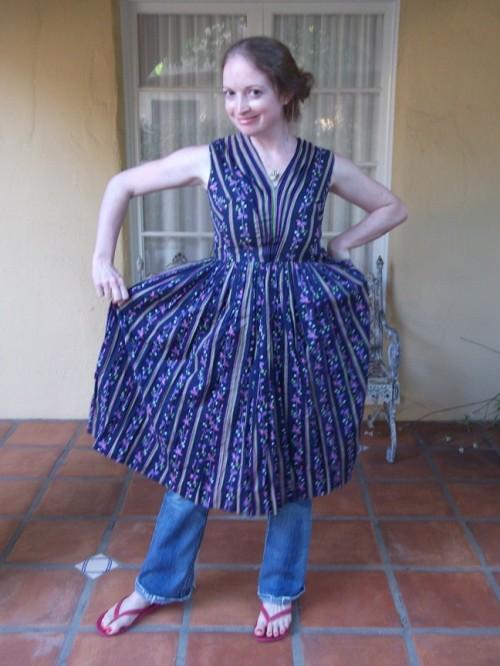 New Dress a Day - DIY - Vintage Dress - Floral - 103