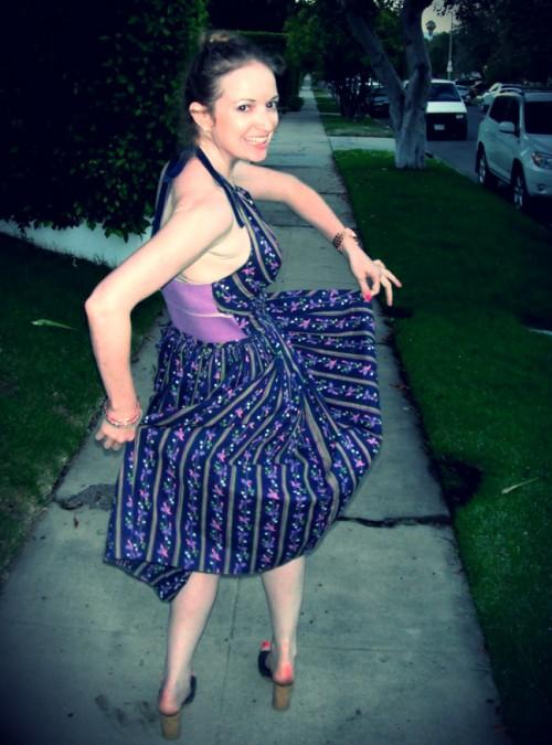 New Dress a Day - DIY - Vintage Dress - Whirling Dervish - 103