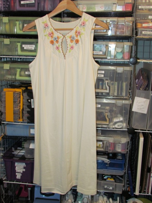 New Dress A Day - DIY - Vintage Nightgown - Jessica's Before