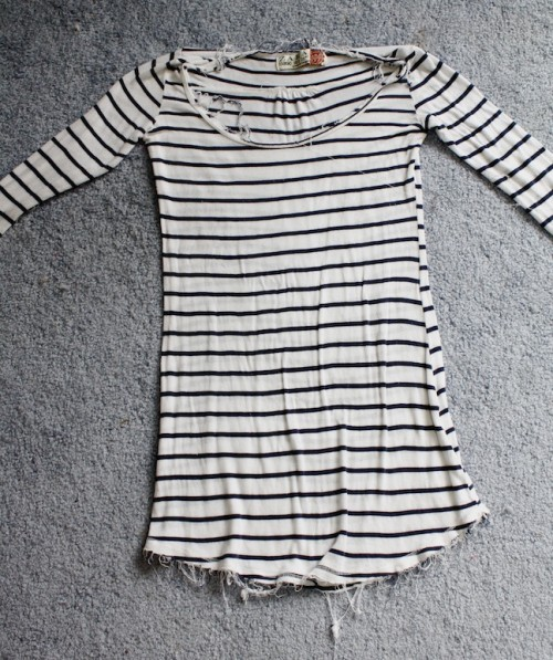 New Dress A Day - DIY - Anthropologie - Copycat - Striped Shirt - 57