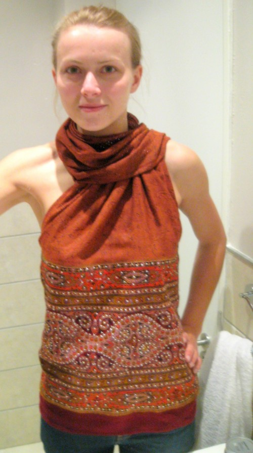 New Dress A Day - DIY - Upcycled Pashmina - 49
