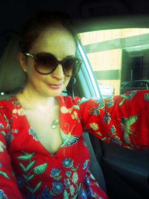 New Dress A Day - DIY - Vintage Muumuu - Car Shot - 54