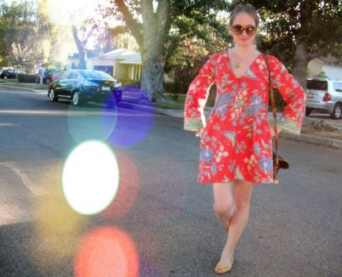 New Dress A Day - DIY - Vintage Muumuu - Street Shot - 54
