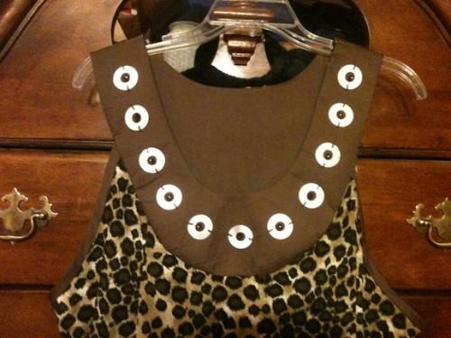 New Dress A Day - DIY - Vintage Leopard Muumuu - Added Beads