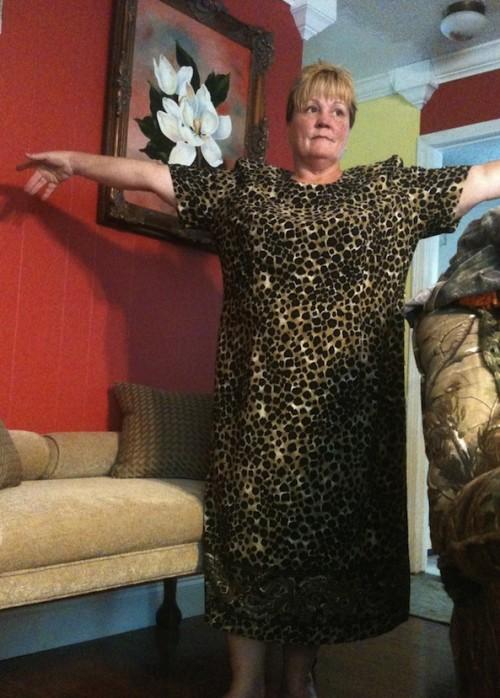 New Dress A Day - DIY - Vintage Leopard Muumuu