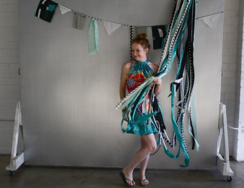 New Dress A Day - DIY - Vintage Muumuu - Fabric Tassels