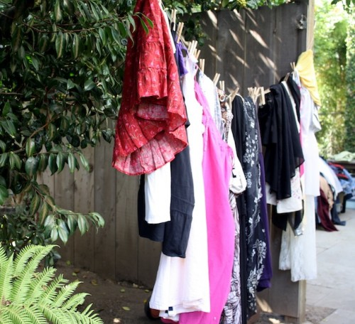 New Dress A Day - DIY - Swap Party - Clothesline!