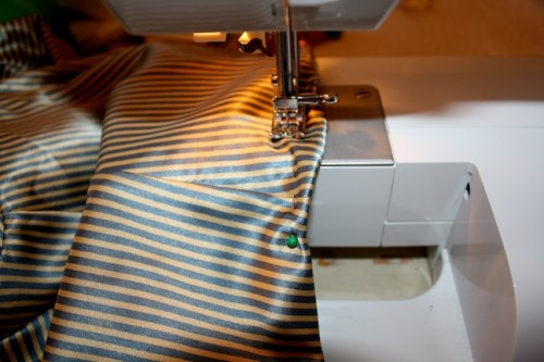 New Dress A Day - DIY - Striped Dress - Sewing Machine