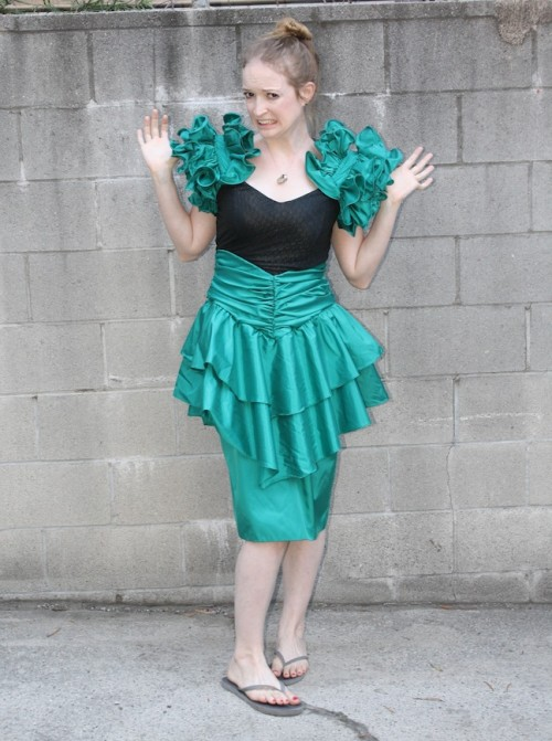 New Dress A Day - DIY - 80s Prom Dress - Upcyclec