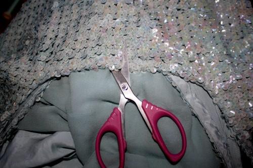 New Dress A Day - DIY - Vintage Party Dress - Cut Neck - 45