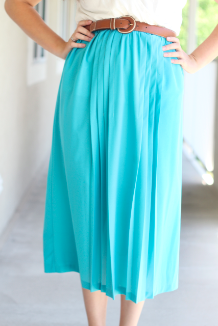 New Dress A Day - DIY - Vintage Dress - Maxi Skirt - Lizzie - 48