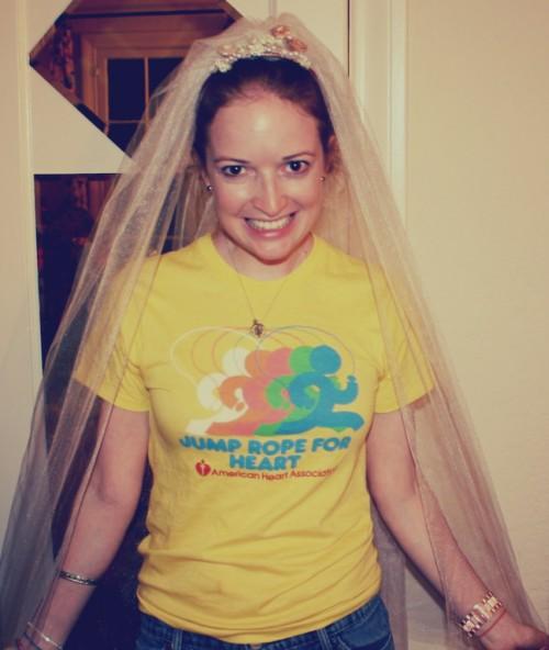 New Dress A Day - DIY - Wedding Veil - Veil Tester!