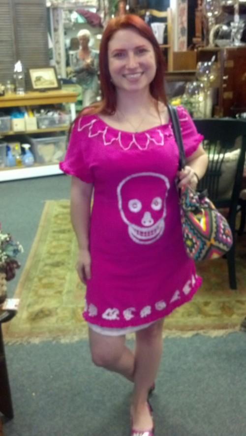 New Dress A Day - DIY - Vintage Dress - Crystal's After Dress