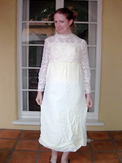 New Dress A Day _- DIY - Vintage Dress - Lace