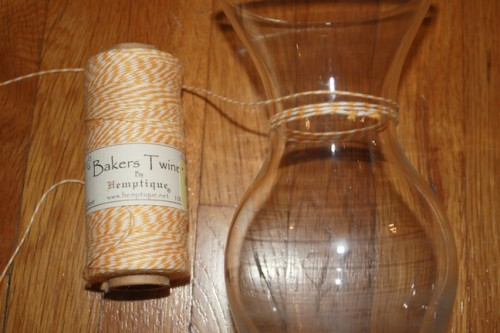 New Dress A Day - DIY - Goodwill Vase & Baker's Twine