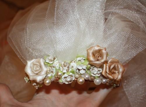 New Dress A Day - DIY - Wedding Veil - Finished Wedding Veil