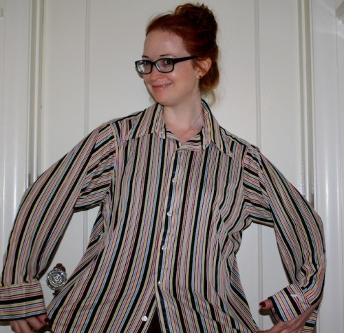 New Dress A Day - DIY - Vintage Striped Shirt - Halloween Costume
