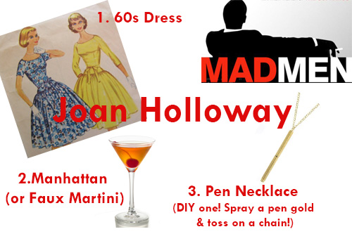 New Dress A Day - DIY Halloween Costumes- Joan Holloway - Mad Men Costume Accessories