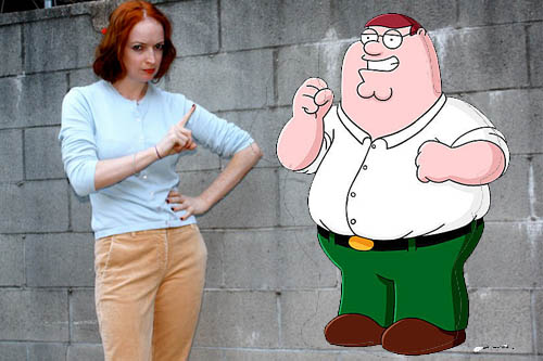New Dress A Day - DIY - Halloween Costumes - Lois Griffin - Family Guy - Peter!