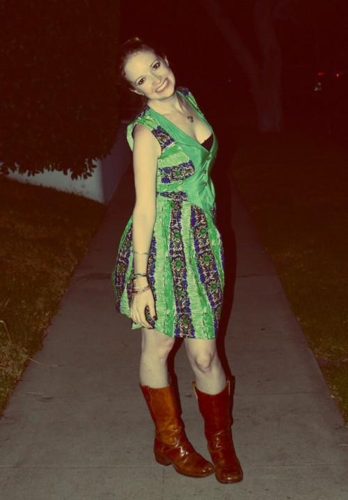 New Dress A Day - DIY - Vintage Dress - After