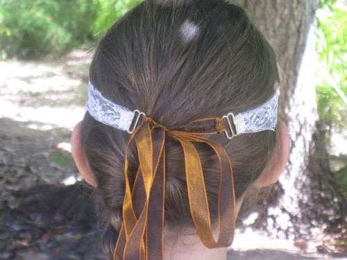 New Dress A Day - DIY - Halloween Costume - headpiece-back