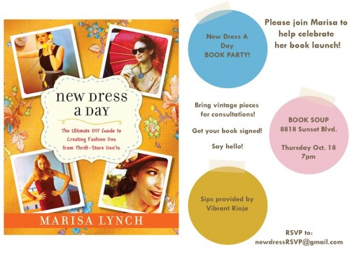 New Dress A Day - DIY - Book Launch Party - Book Soup