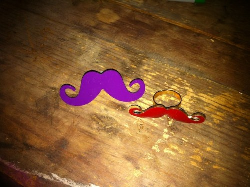 New Dress A Day - DIY - Stache Rings!