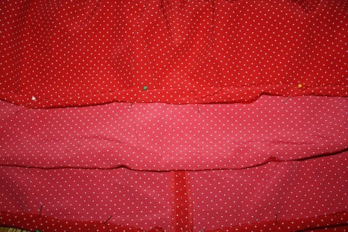 New Dress A Day - DIY - Vintage Polka Dots - New Hem Time!