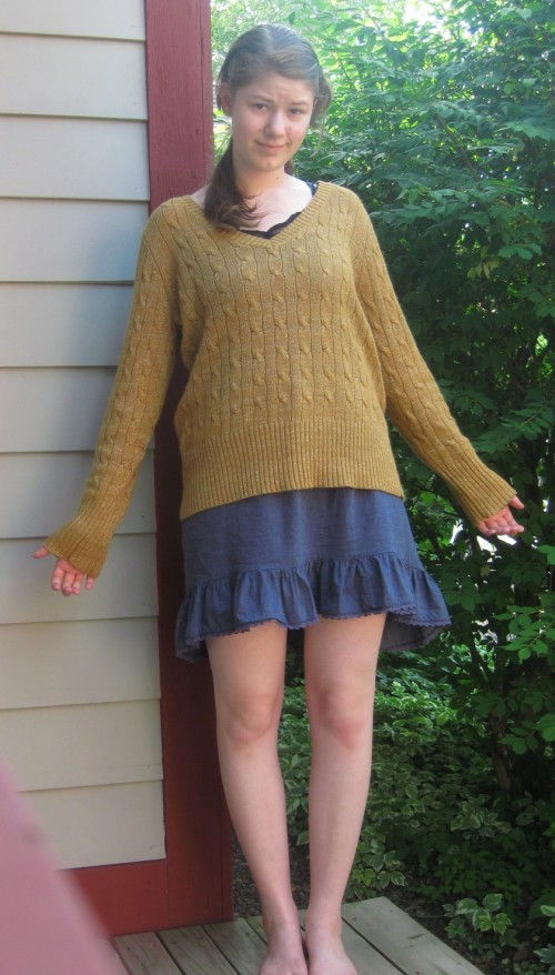 New Dress A Day - DIY - Vintage Sweater