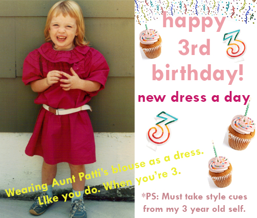 New Dress A Day - Day 1 of Blogging - Happy Blog Birthday!