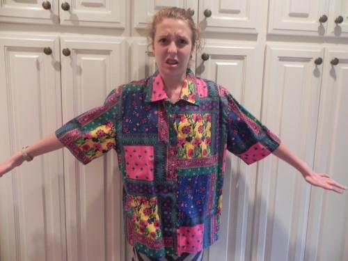 New Dress A Day - DIY - Goodwill shirt