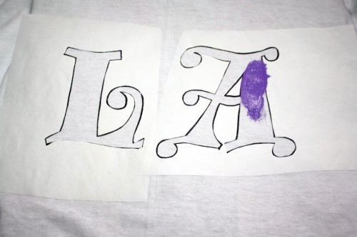 New Dress a Day - DIY - Stencil T Shirt