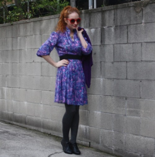 New Dress A Day - DIY - vintage dress - upcycling