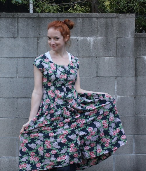 New Dress A Day - DIY - Vintage Floral Dress - Upcycle
