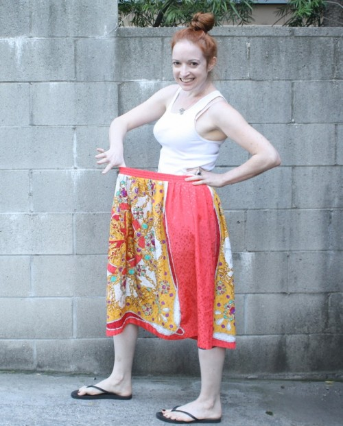 New Dress A Day - DIY - Vintage Skirt - Django Unchained