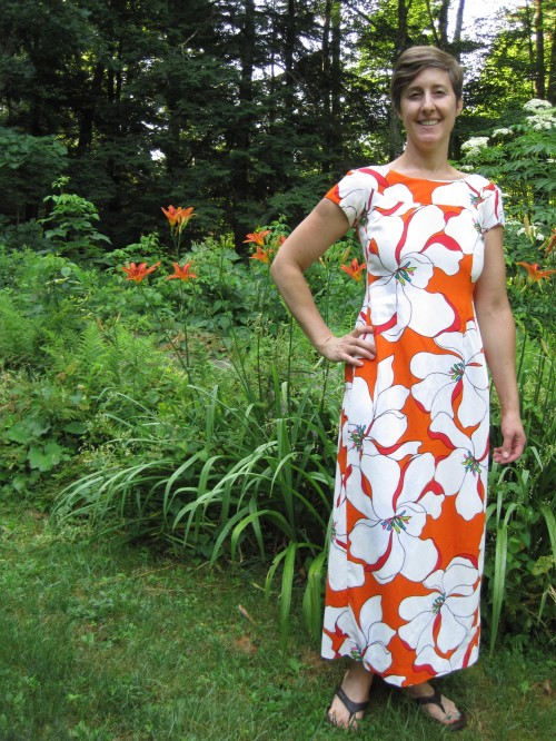 New Dress A Day - DIY - Muumuu - Upcycled Outfit