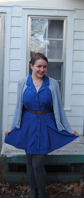 New Dress A Day - DIY - Vintage Dress - Upcycle - Goodwill