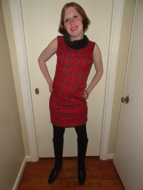 New Dress A Day - Plaid Dress - DIY - Goodwill