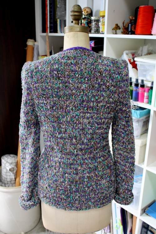 New Dress A Day - DIY - Anthropologie Copycat - Looped Buds Cardigan