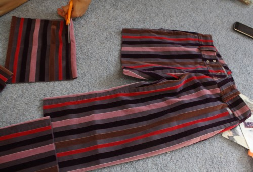 New Dress A Day - Miss Sixty Striped Velvet Pants - Goodwill