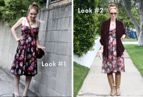 New Dress A Day - DIY - Upcycle - Vintage Dress